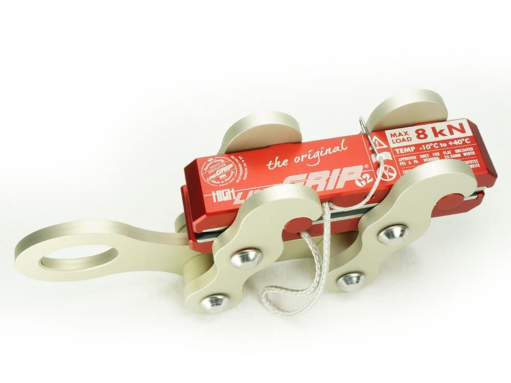 highlineGrip G2-MK1 lineGrip webbing clamp for rigging tensioning slacklines