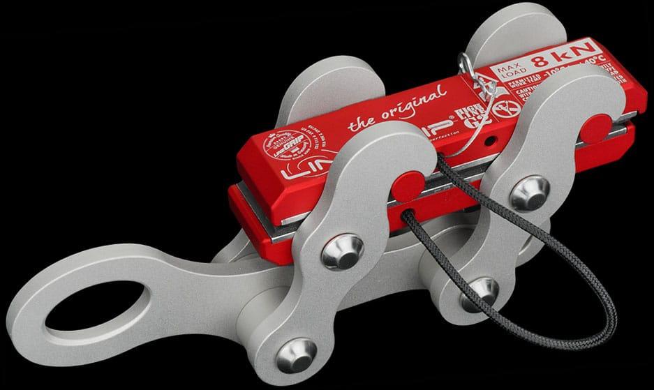highlineGrip G2-MK2 lineGrip webbing clamp for rigging tensioning slacklines