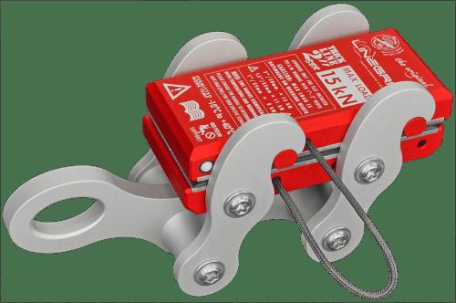 "tricklineGrip G1-SBR lineGrip 2"" webbing clamp for rigging tensioning slacklines"