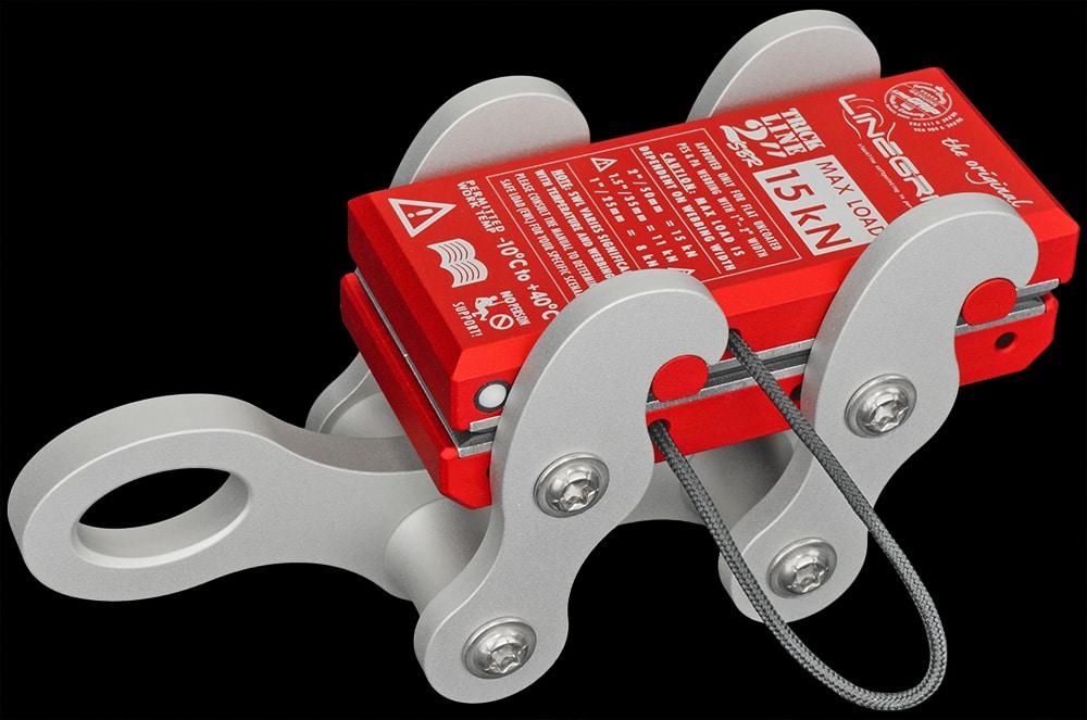 tricklineGrip G1-SBR lineGrip webbing clamp for rigging tensioning slacklines